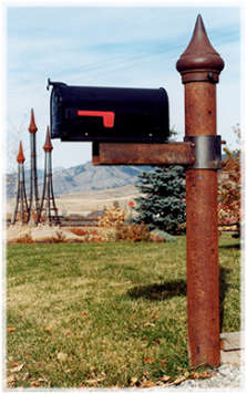Our steel mailbox support