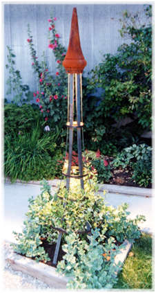 Steel garden trellis designs outdoor and landscape lighting